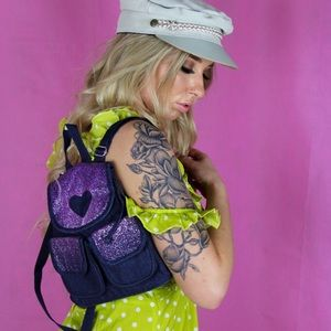 Handbags - Vintage denim mini backpack